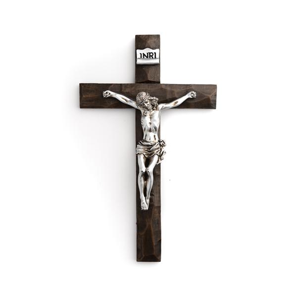 Roman Silver Crucifix 19.5cm