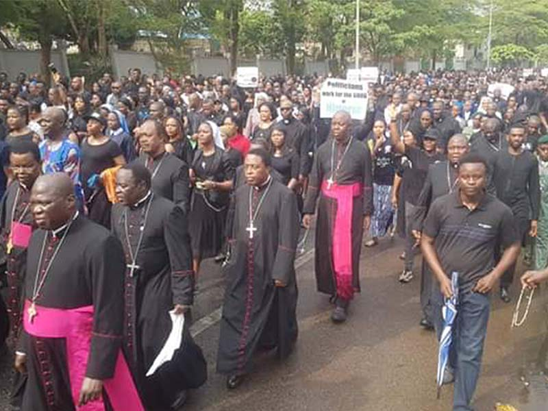 Archbishop Augustine Obiora Akubeze Remarks at the Peace Protest by CBCN in Abuja March 2020