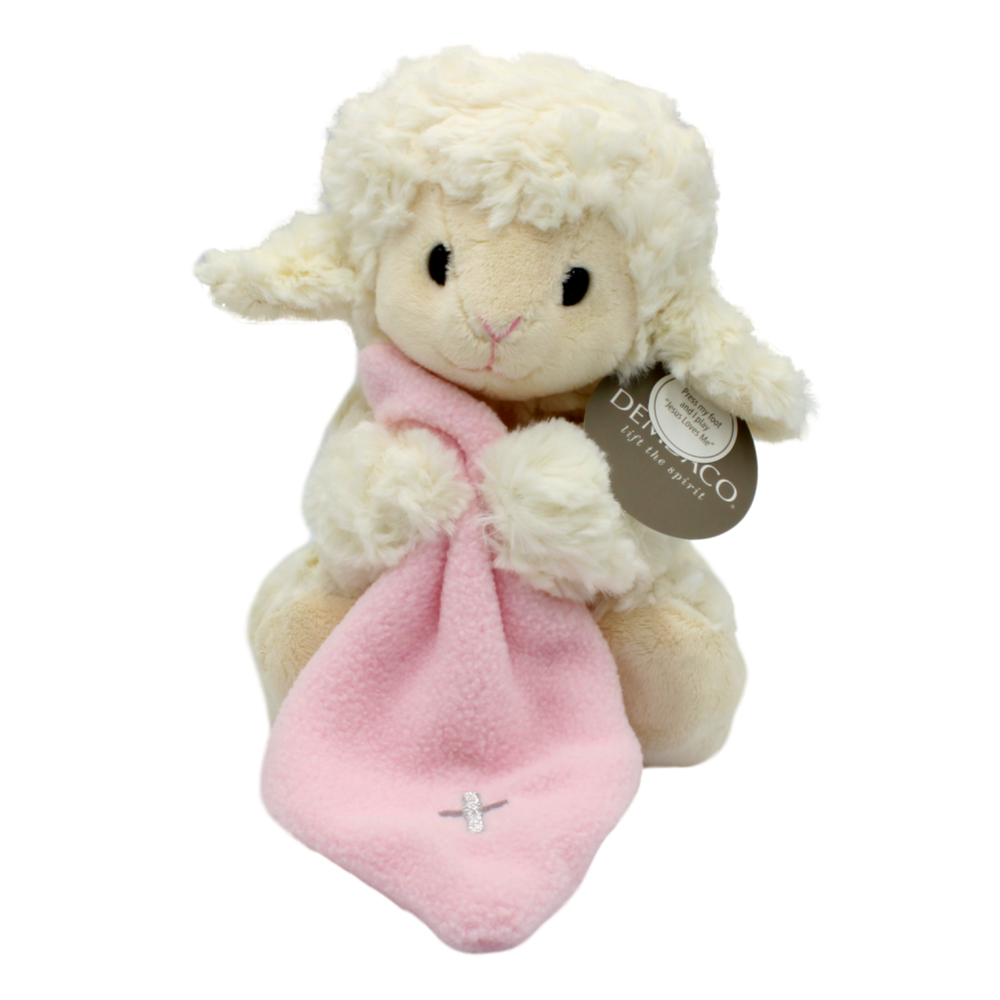 Jesus Loves Me Soft Lamb - Pink