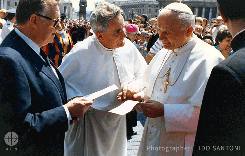 100th anniversary of the birth of Pope Saint John Paul II – ACN remains faithful to his legacy to this day.