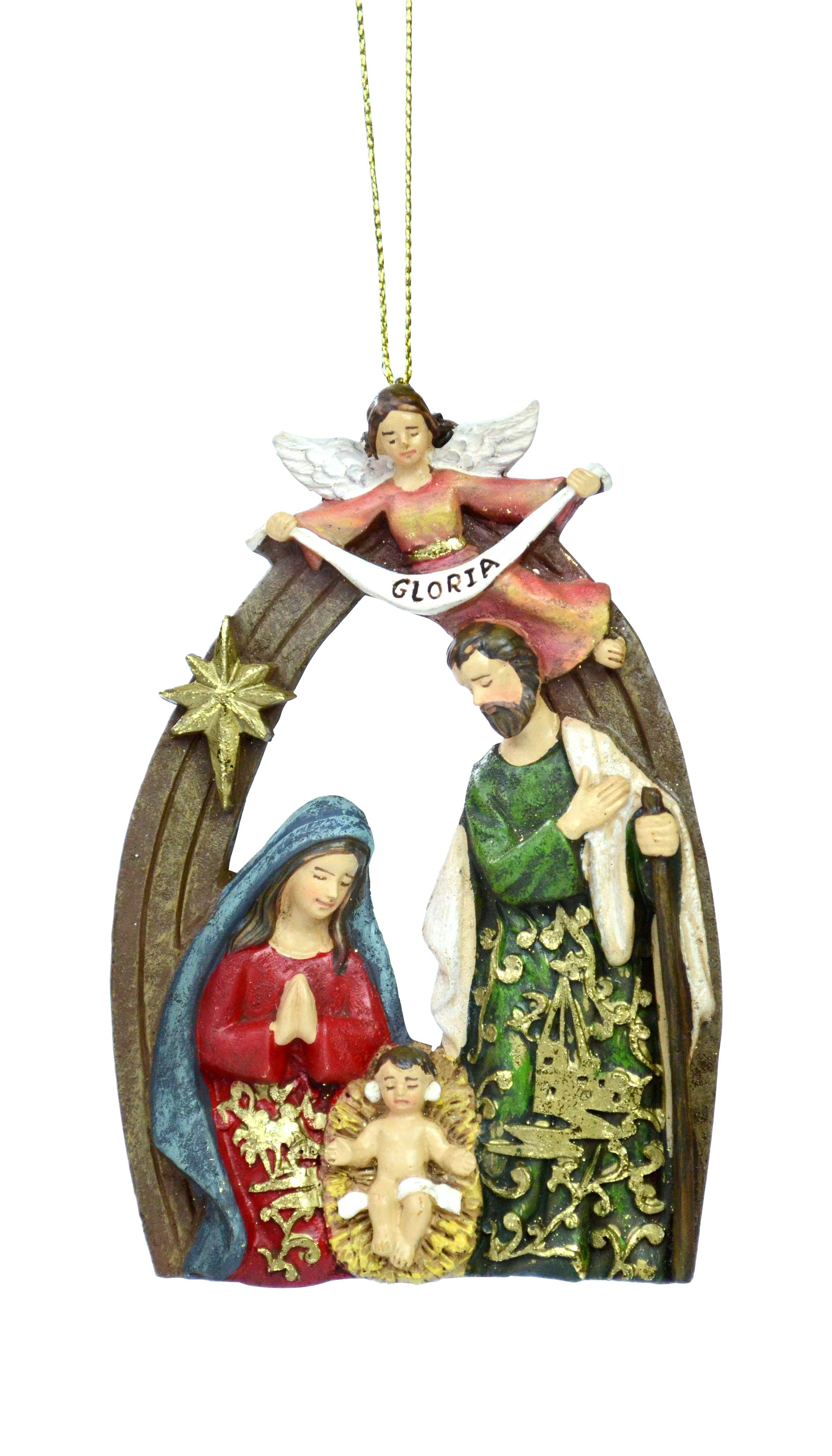 Holy Family with Angel Gabriel Ornament