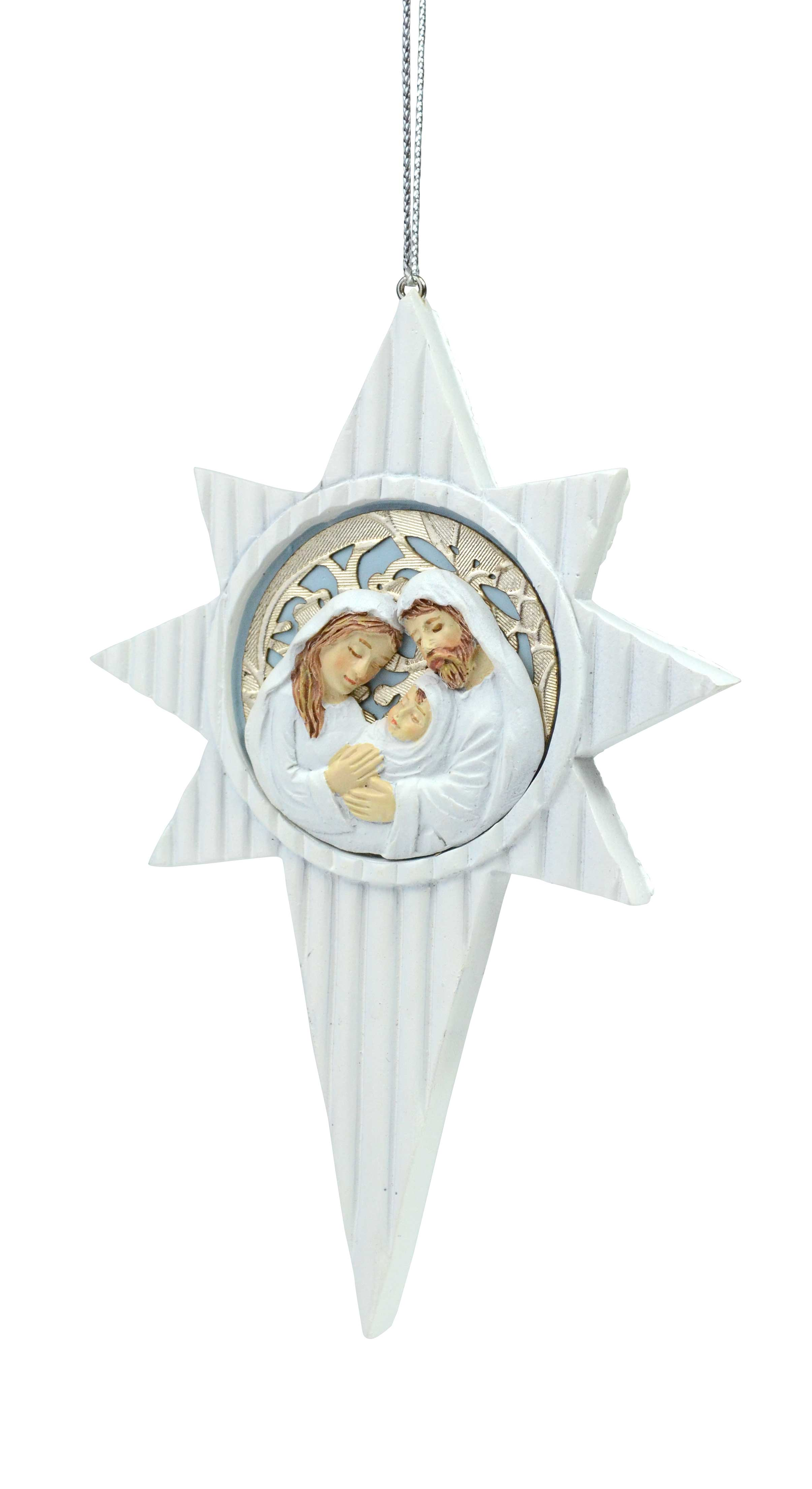 Bethlehem Star with Holy Family Ornament