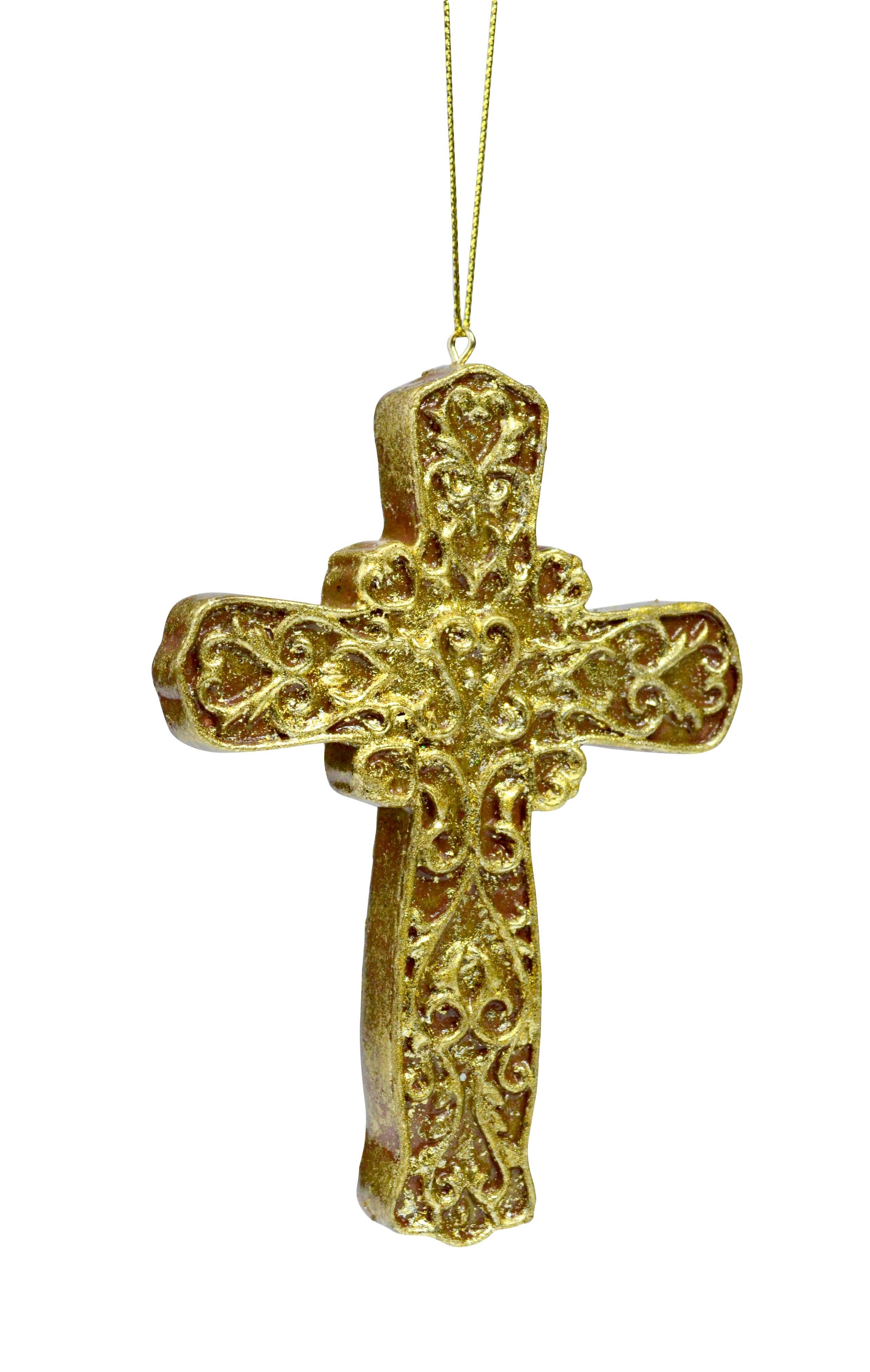 Gold Cross Ornament