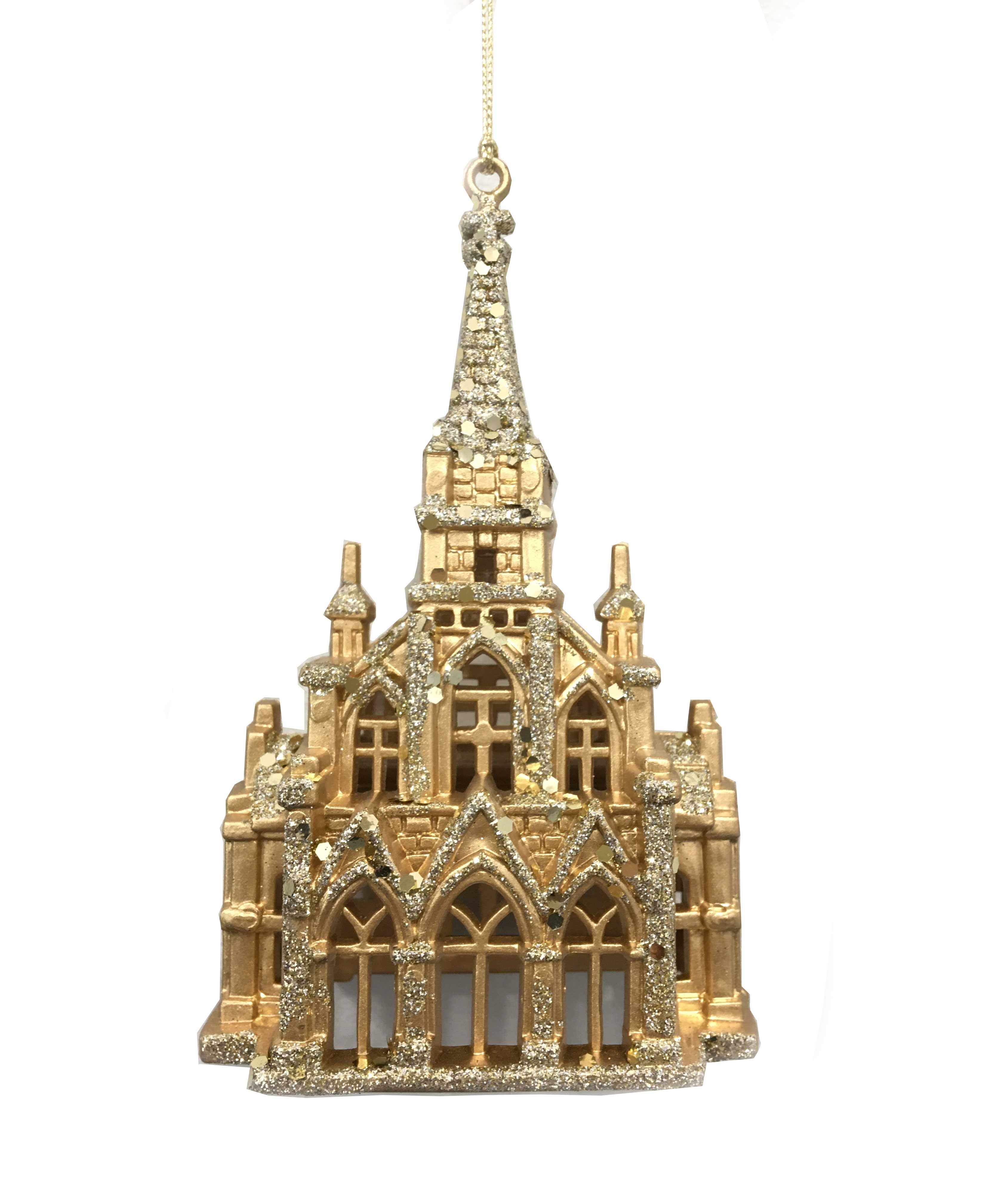 Gold Cathedral Ornament
