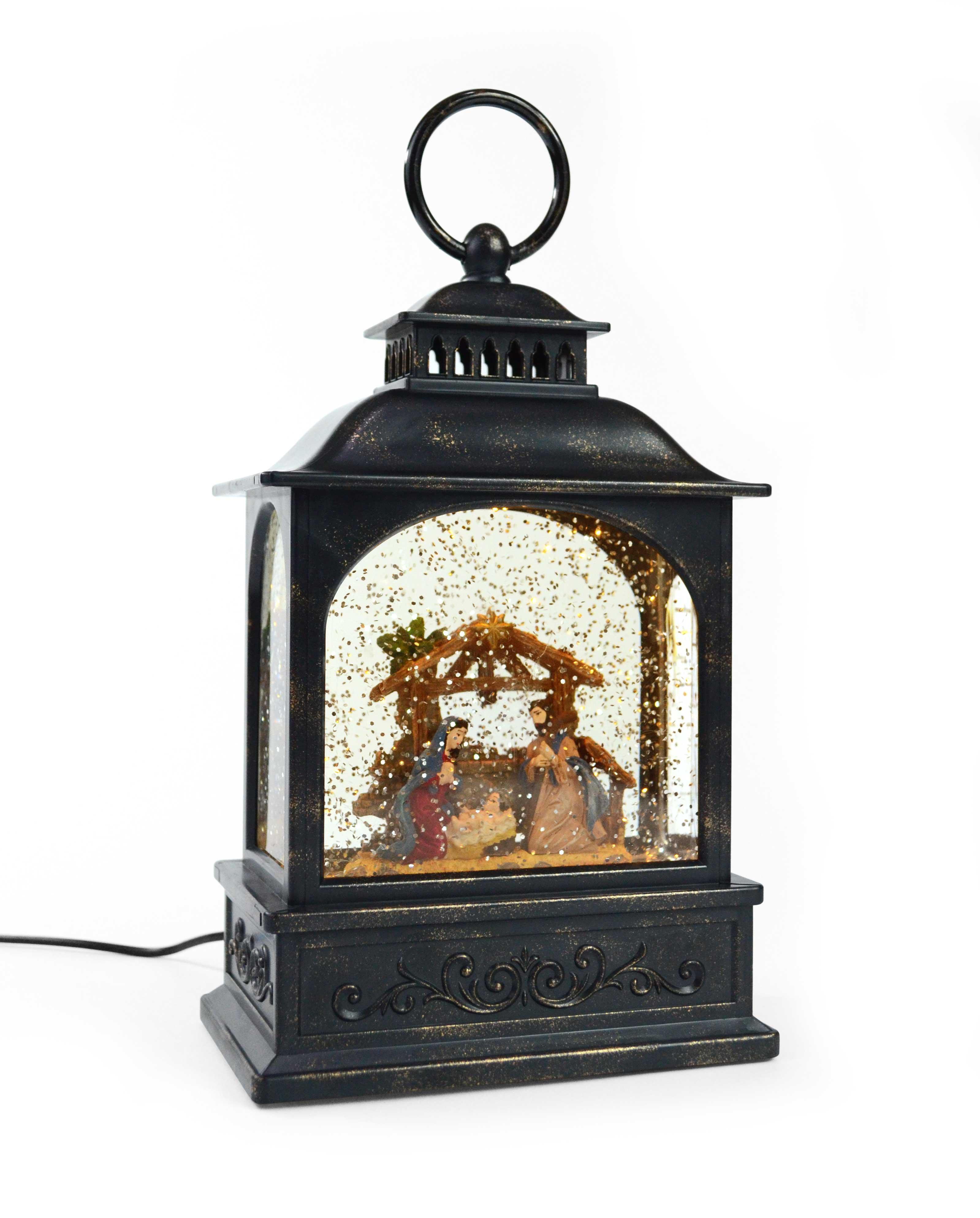 LED Snow Lantern Nativity Scene