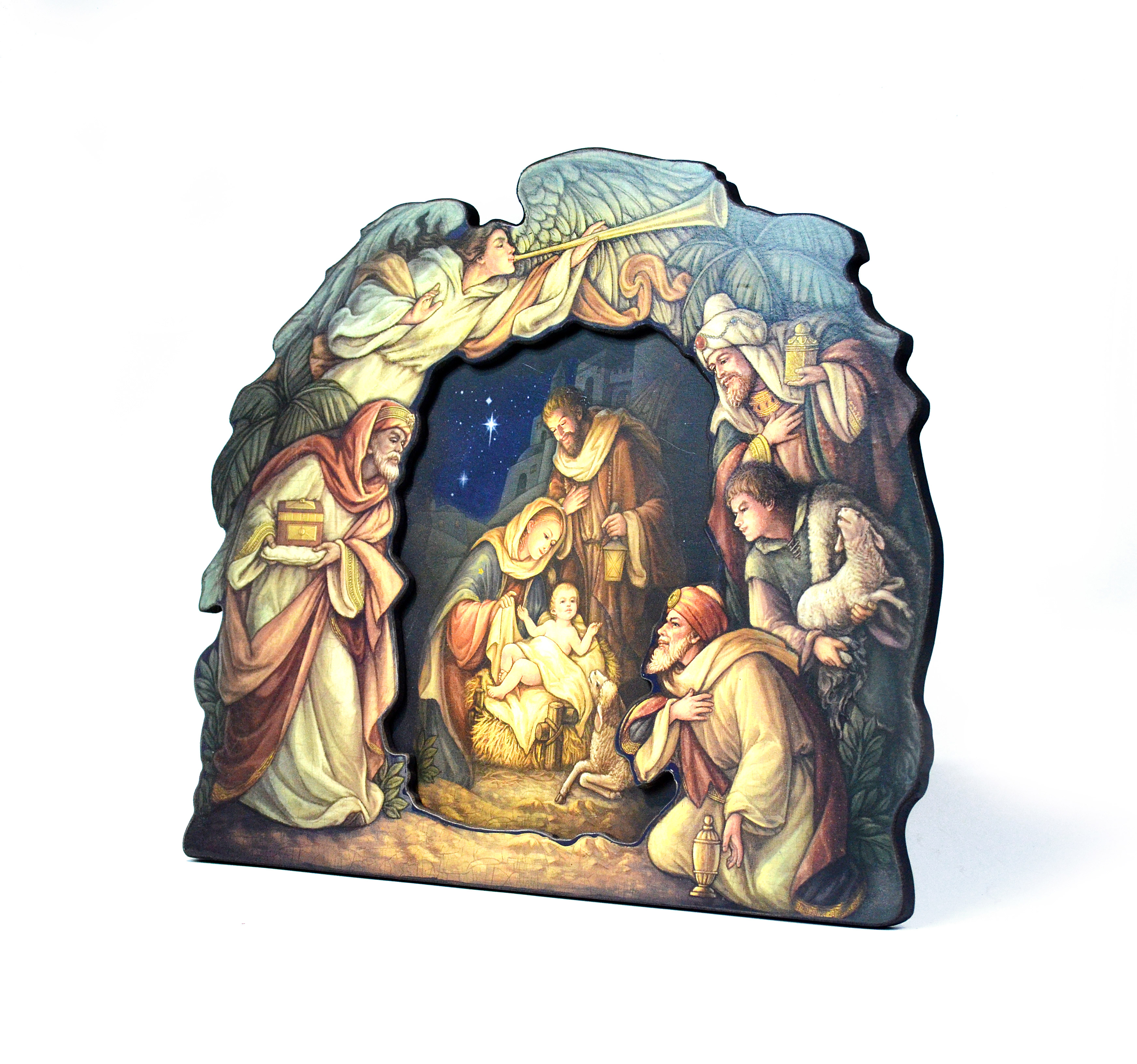 Two-Layer Nativity Plaque