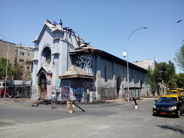 Arson and vandalism: the continuing tragedy of two iconic churches in Santiago