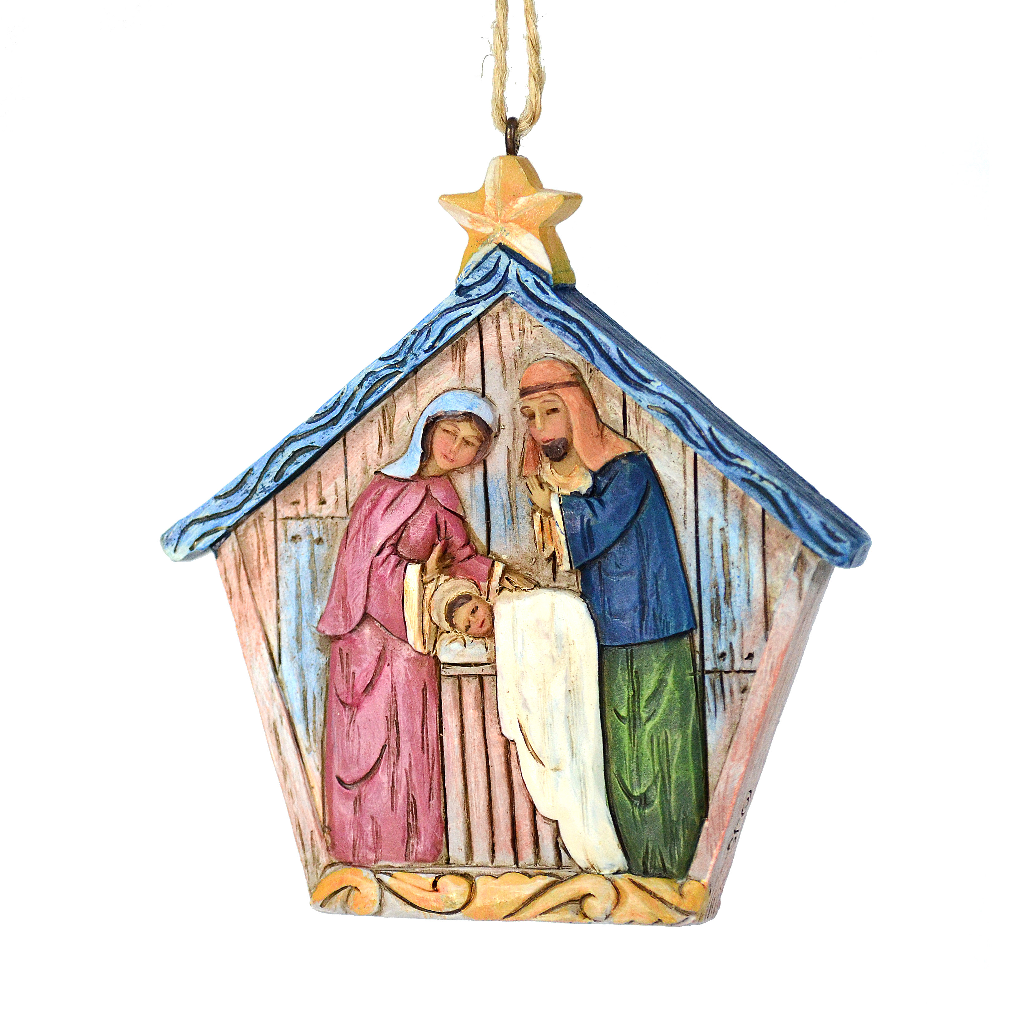 Christmas Holy Family Lily Folk Hanging Ornament