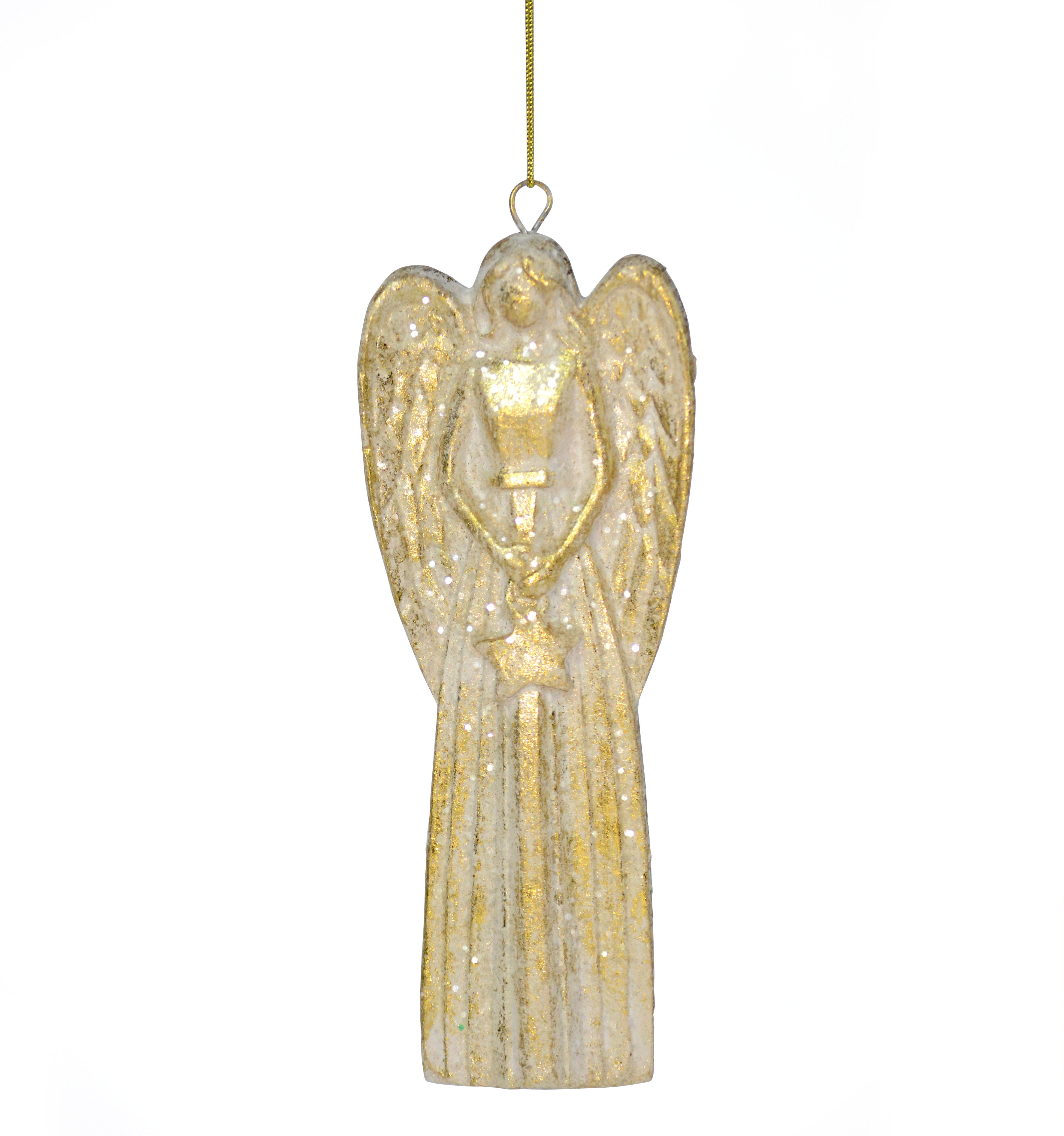 Gold Angel Christmas Hanging Ornament