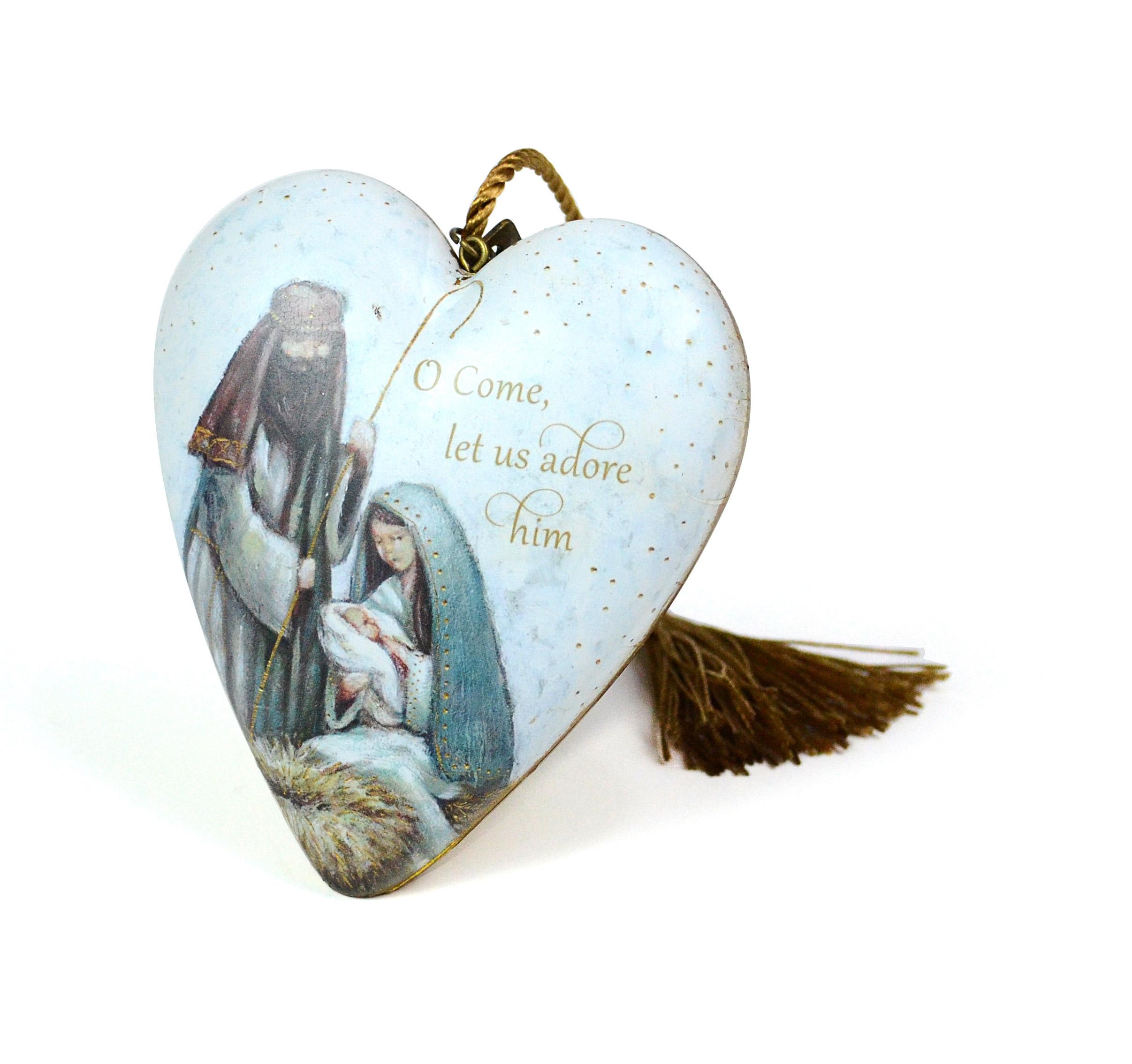 O Come Let Us Adore Him Art Heart