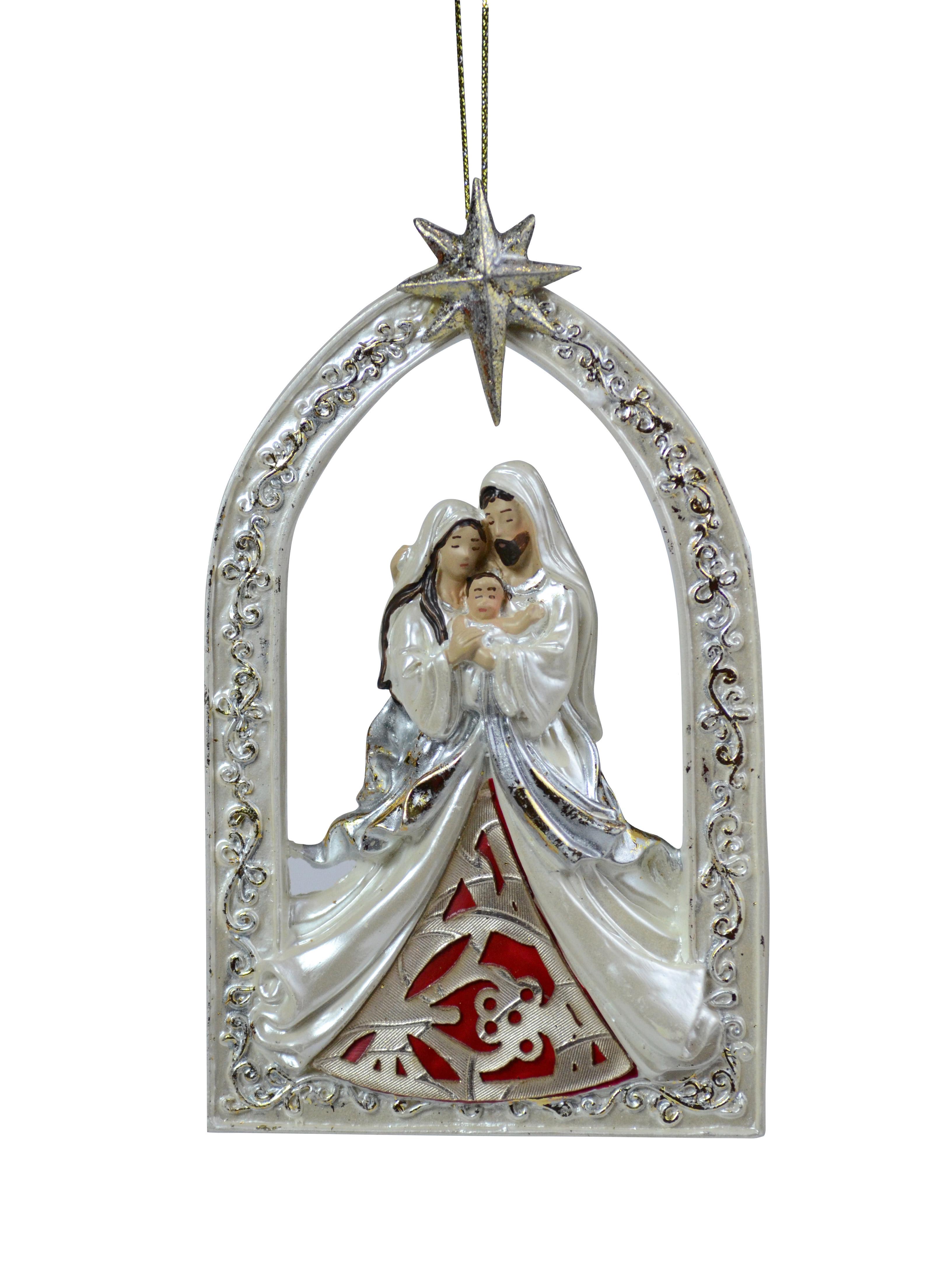 Cream Holy Family Ornament