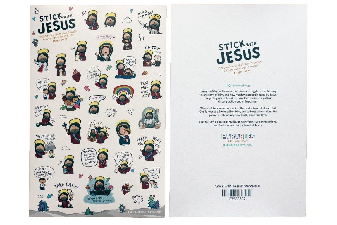 Stick with Jesus Stickers - Parables