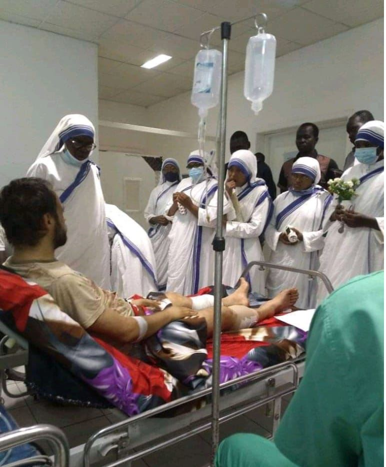 The future bishop of Rumbek shot and wounded less than a month before his episcopal ordination
