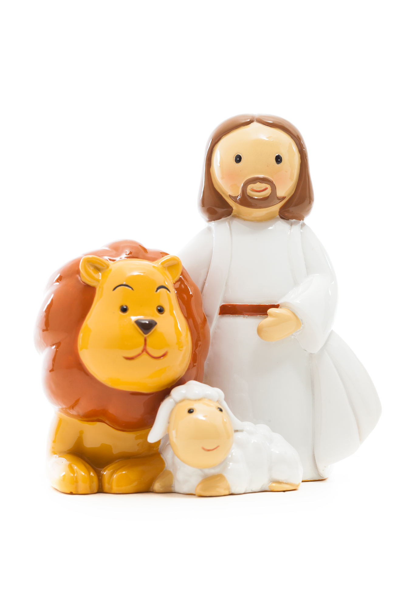 Jesus Lion and Lamb Statue (Little Drops)