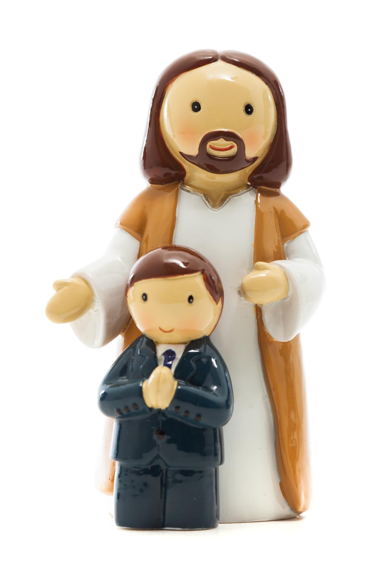 First Communion Jesus & Boy Statue (Little Drops)