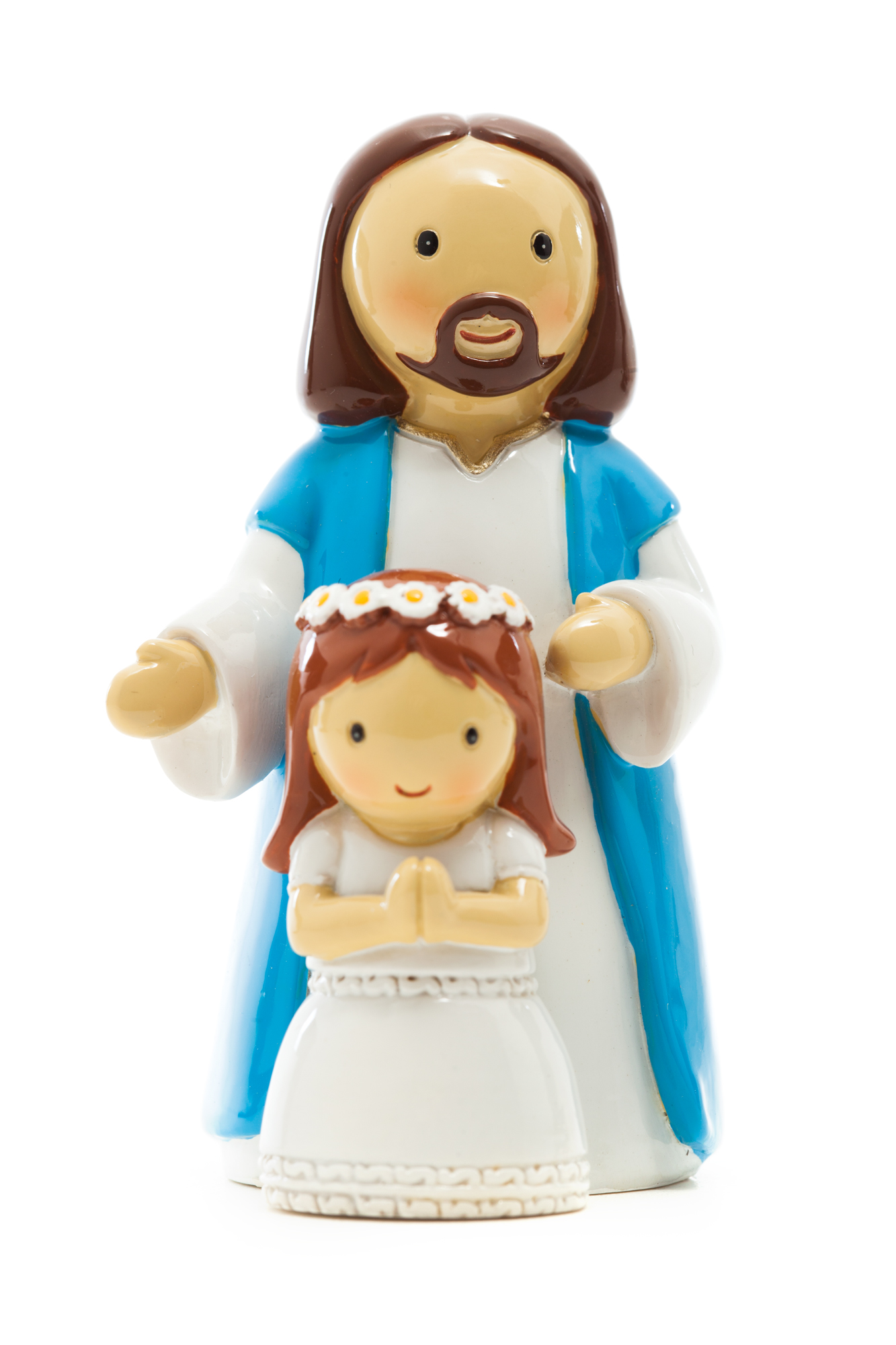 First Communion Jesus & Girl Statue (Little Drops)