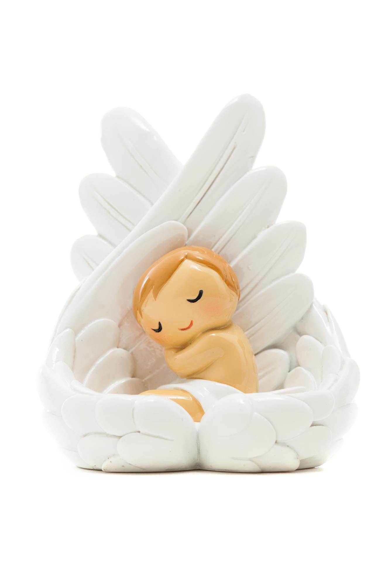 Baby Angel Sleeping on Wings Statue (Little Drops)