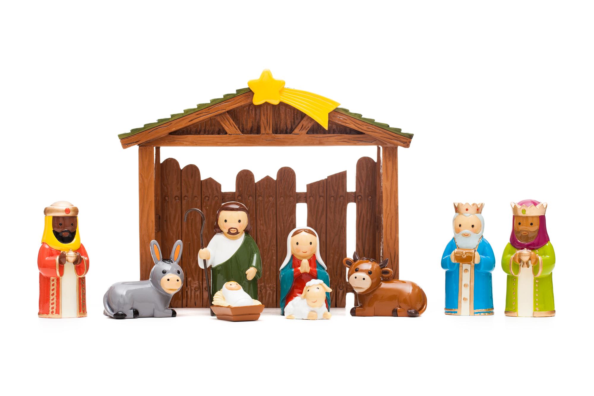 Nativity Scene 10 Piece Set (Little Drops)