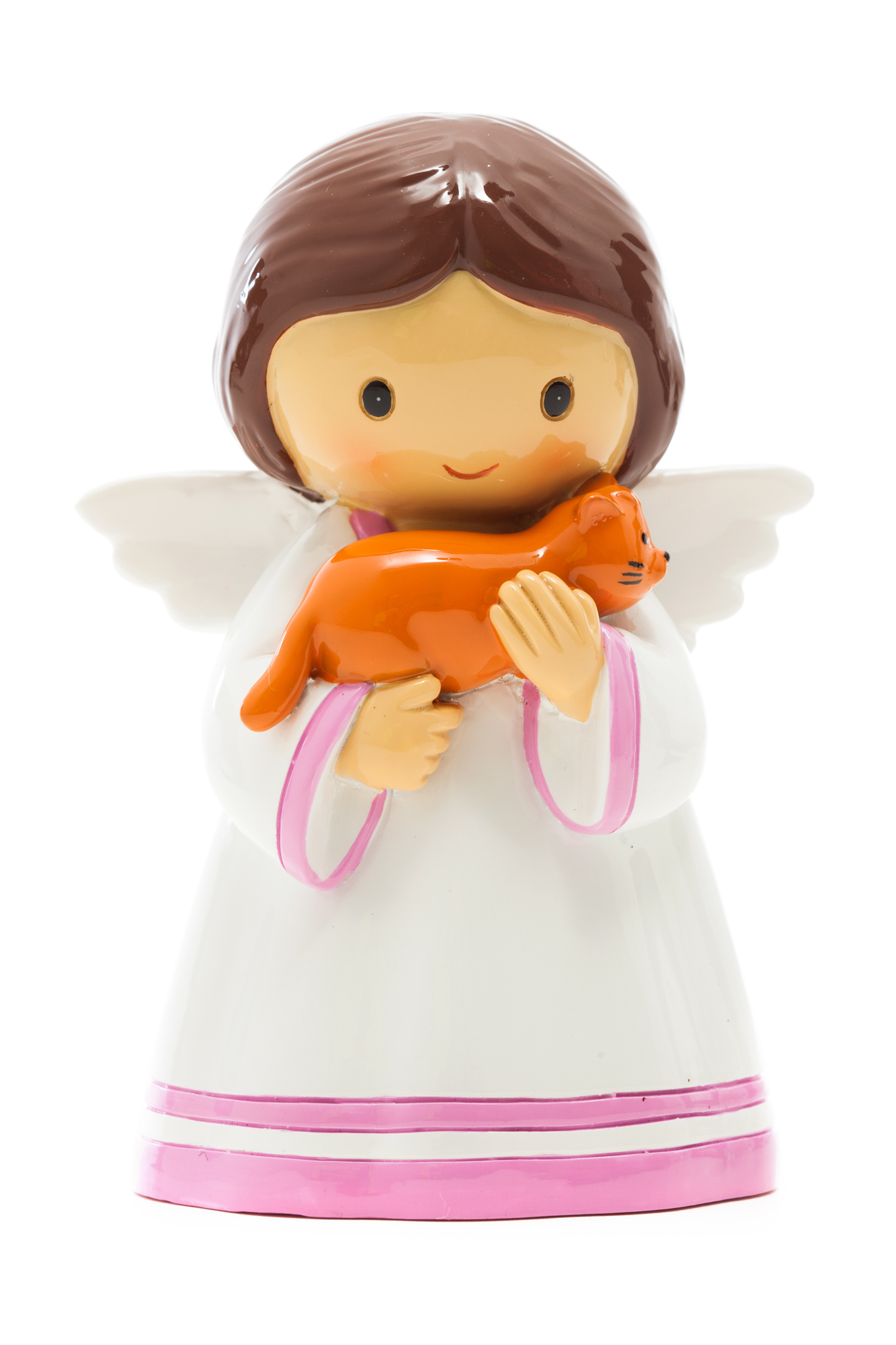 Angel with Cat Statue (Little Drops)
