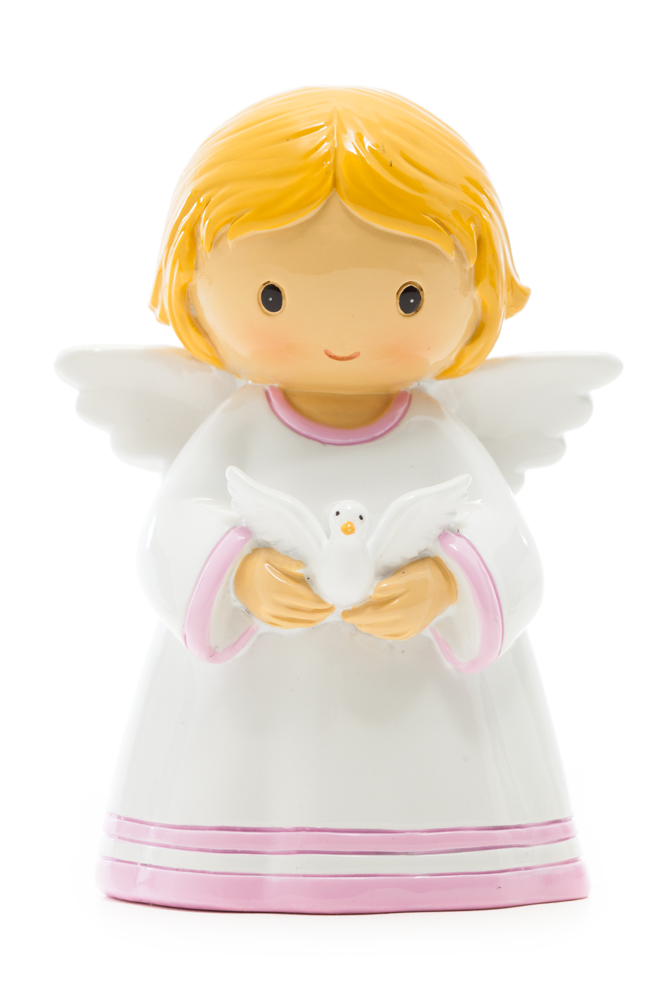 Baby Angel Girl with Dove Statue (Little Drops)