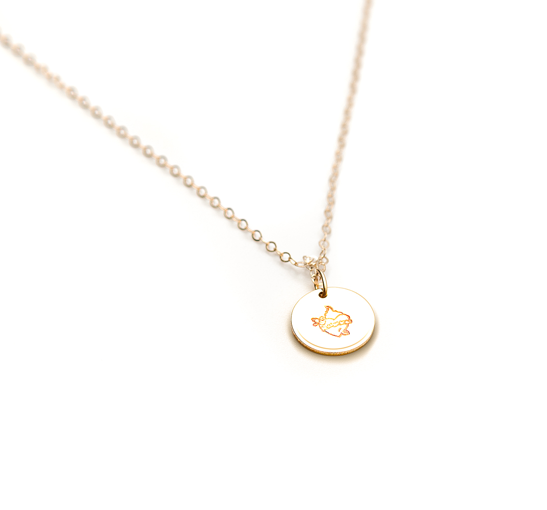 Immaculate Heart Disc Necklace 40.6cm