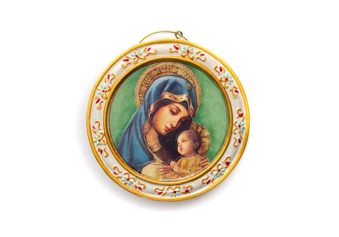 Madonna and Child Plaque W/Easel