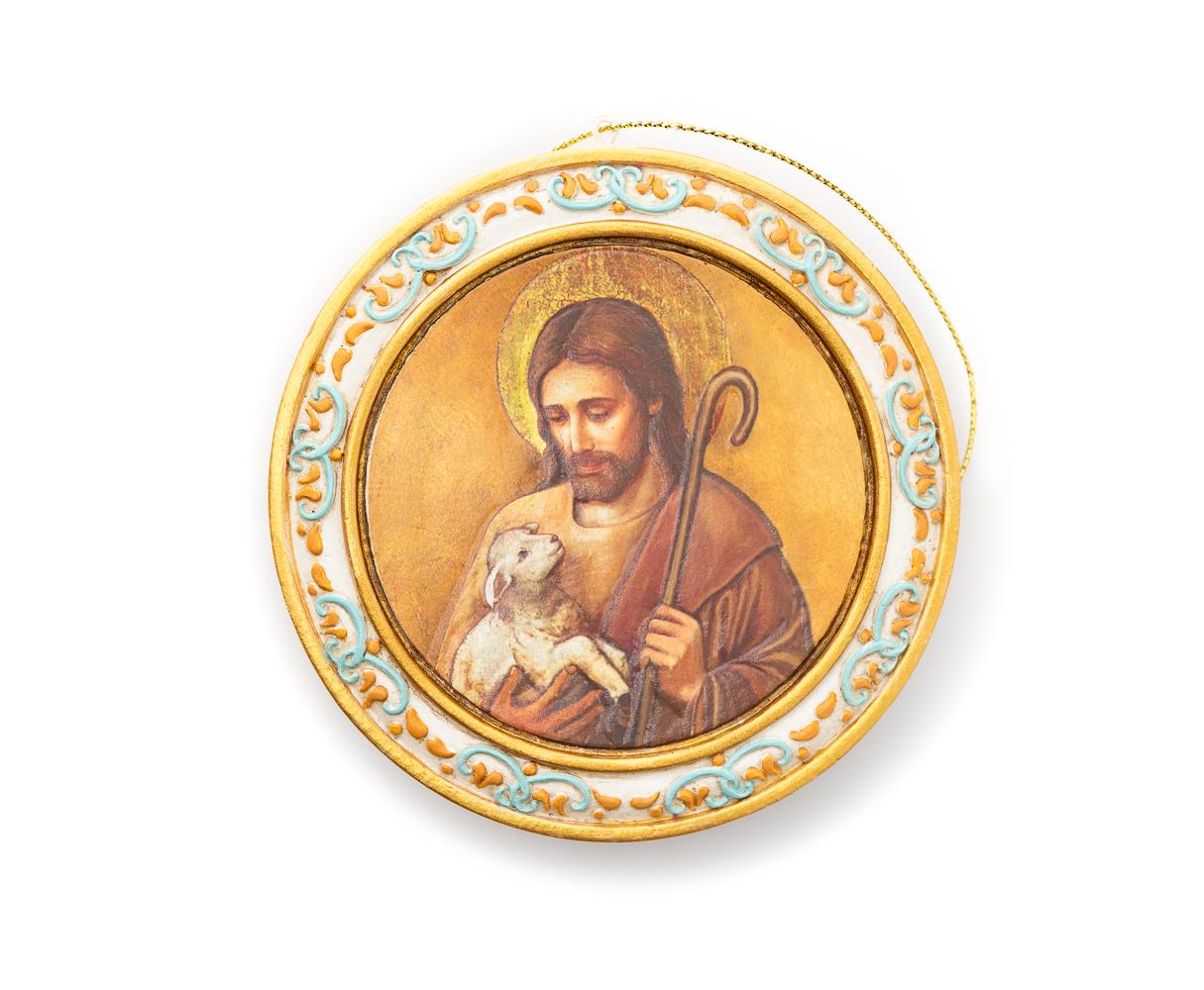 Jesus & Lamb Plaque W/Easel